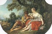 Francois Boucher Shepherd Piping to a Shepherdess oil painting picture wholesale