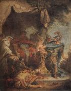 Francois Boucher Mucius Scaevola putting his hand in the fire oil painting picture wholesale