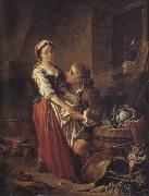 Francois Boucher The Beautiful Kitchen-Maid oil painting picture wholesale