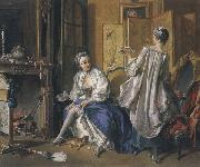 Francois Boucher Lady Fastening her Garter oil painting picture wholesale