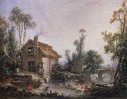Francois Boucher Landscape with a Watermill oil painting picture wholesale