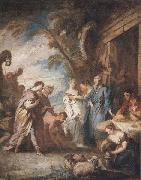 Francois Boucher Welcoming the Servant of Abraham oil painting picture wholesale