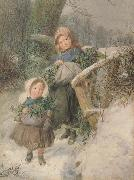 Frederic james Shields,ARWS The Holly Gatherers (mk46) oil painting picture wholesale