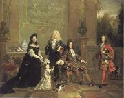 French school Louis XIV and his Heirs oil painting picture wholesale