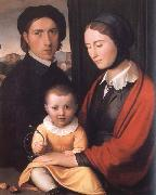 Friedrich overbeck The Artist with his Family oil painting artist