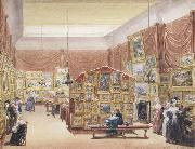 George Scharf Interior of the Gallery of the New Society of Painters in Watercolours (mk47) oil painting picture wholesale