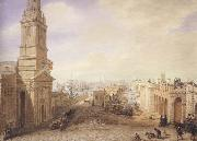George Scharf Old and New London Bridges as they appeared in December 1831 (mk47) oil painting artist