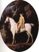 George Stubbs Self-Portrait on a White Hunter oil painting picture wholesale