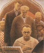 Grant Wood Return from Bohemia oil painting picture wholesale
