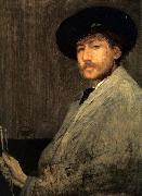 James Abbot McNeill Whistler Arrangement in Grey Portrait of the Painter oil painting artist