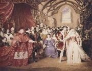 James Stephanoff The Banquet Scene,king Henry- The fairest hand i ever touched play of henry VIII.Act i scene 4.Painted by command of His Majesty (mk47) oil painting picture wholesale