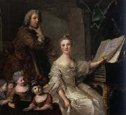 Jjean-Marc nattier The Artist and his Family oil painting artist