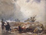John sell cotman Lee Shore,with the Wreck of the Houghton Pictures (mk47) oil painting picture wholesale