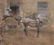 Joseph Crawhall The Governess Cart (mk46) oil painting picture wholesale