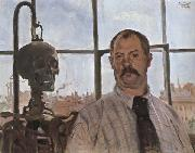 Lovis Corinth Self-Portrait with Skeleton oil painting picture wholesale