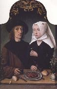 Master of Frankfurt Portrait of the Artist and his Wift oil painting picture wholesale
