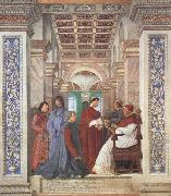 Melozzo da Forli Pope Sixtus IV appoints Platina as Prefect of the Vatican Library (mk45) oil painting picture wholesale
