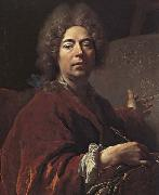 Nicolas de Largilliere Self-Portrait Painting an Annunciation oil painting picture wholesale