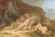 Nicolas-rene jollain Sleeping Cupid oil painting artist