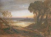Samuel Palmer The Curfew  or The Wide Water d Shore oil painting picture wholesale