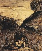 Samuel Palmer The Valley Thick with Corn oil painting artist