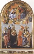 Sandro Botticelli Coronation of the Virgin,with Sts john the Evangelist,Augustine,Jerome and Eligius or San Marco Altarpiece oil painting picture wholesale