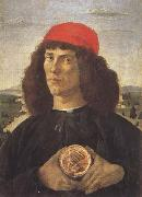 Sandro Botticelli Young Man With a Medallion of Cosimo (mk45) oil painting picture wholesale
