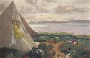 Sir William Orpen A Breezy Day,Howth oil painting picture wholesale