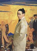 Sir William Orpen Self-Portrait with Sowing New Seed oil painting picture wholesale