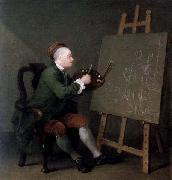 William Hogarth Hogarth Painting the Comic Muse oil painting picture wholesale