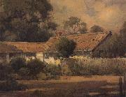 unknow artist An Old Farmhouse oil painting picture wholesale