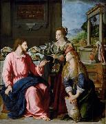 Alessandro Allori Christ with Mary and Martha oil painting picture wholesale