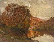 Alfred East Lake in Autumn oil painting