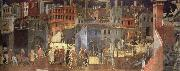 Ambrogio Lorenzetti The Effects of Good Government in the city oil painting picture wholesale