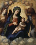 CASTIGLIONE, Giovanni Benedetto Embrace the glory of the Son and Our Lady of Angels oil painting picture wholesale