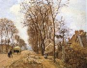 Camille Pissarro Rural road Sweden oil painting artist