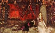 Edwin Austin Abbey The play scene in Hamlet oil painting picture wholesale