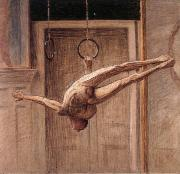 Eugene Jansson ring gymnast no.2 oil painting artist