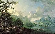 George Barret View of Windermere Lake oil painting artist