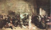 Gustave Courbet the studio of the painter,a real allegory oil painting picture wholesale