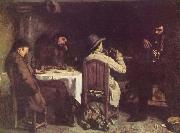 Gustave Courbet After Dinner at Ornans oil painting picture wholesale