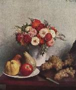 Henri Fantin-Latour Still Life with Flowers oil painting artist