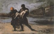 Honore Daumier the rescue oil painting picture wholesale