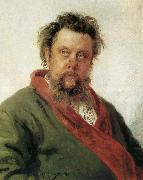 Ilya Repin Canadian composer portrait Mussorgsky oil painting