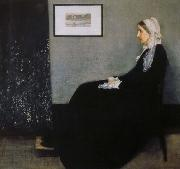 James Abbott Mcneill Whistler arrangemang i gratt och svart nr 1 konstnarens moder oil painting on canvas