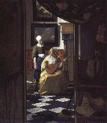 Jan Vermeer letter oil painting picture wholesale