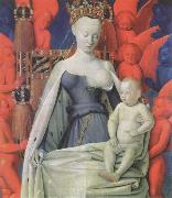 Jean Fouquet The melun Madonna oil