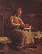 Jean Francois Millet Peasant hackle wool oil painting picture wholesale