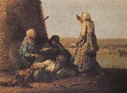 Jean Francois Millet Haymow oil painting picture wholesale