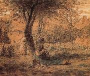 Jean Francois Millet Country yard oil painting picture wholesale